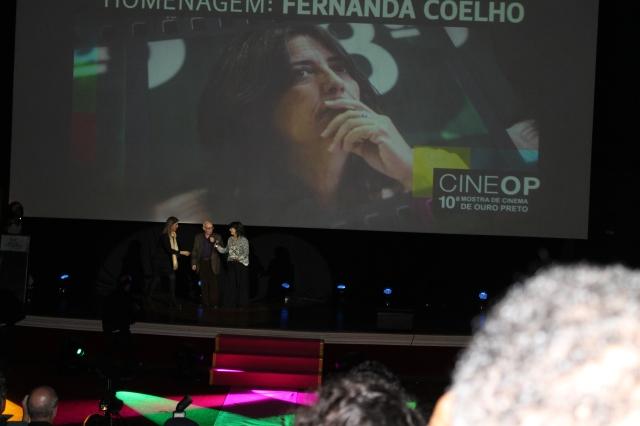 Cerimônia de Abertura: Homenagem a Fernanda Coelho. (foto: Sonia Rocha)