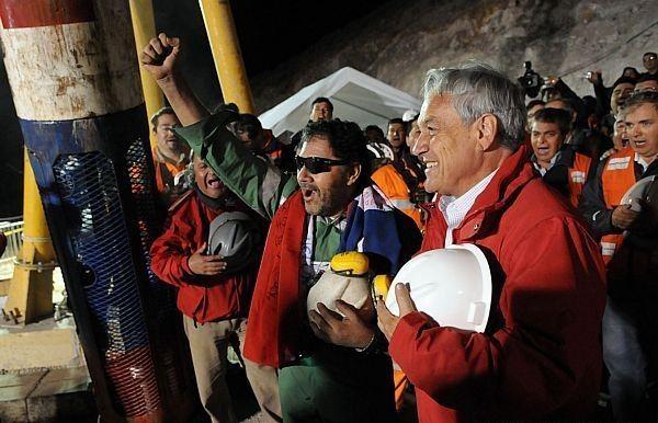 Mineiros resgatados no Chile