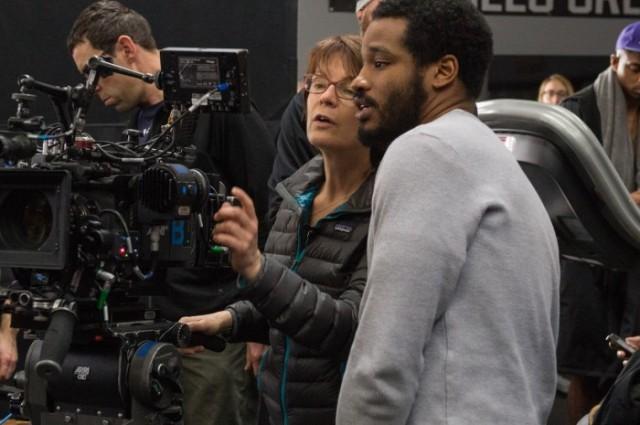 Ryan Coogler (diretor) e Maryse Alberty (cinematografista).